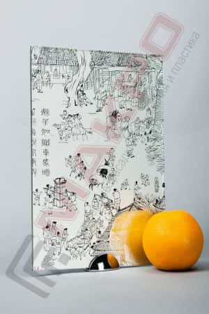 Зеркало «Китайская Деревня Серебро»