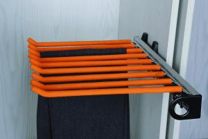 Брючница выдвижная  на боковину оранжевая/черная
